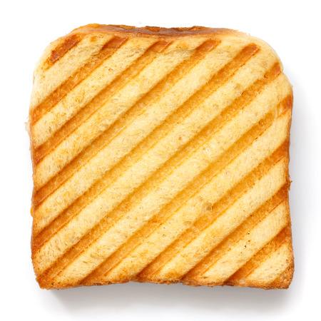 Toast mit Grillstreifen von oben. Standard-Bild