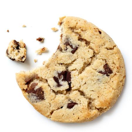 Leichte Schokoladenkeks, beißen mit Krümel fehlt von oben.