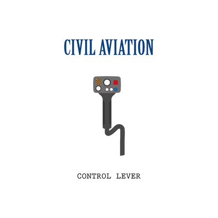 lever: Lever control helicopter. Steering wheel of the aircraft.
