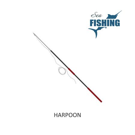 harpoon: Harpoon. Item of fishing. Vector illustration