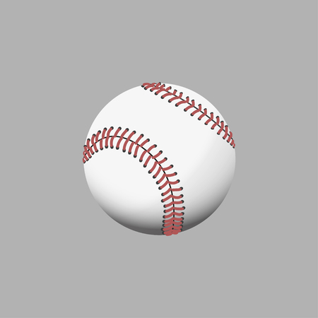 multi colors: Multi colors baseball on gray background. Vector illustration Illustration
