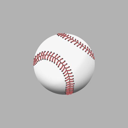 Multi colors baseball on gray background. Vector illustration Illustration