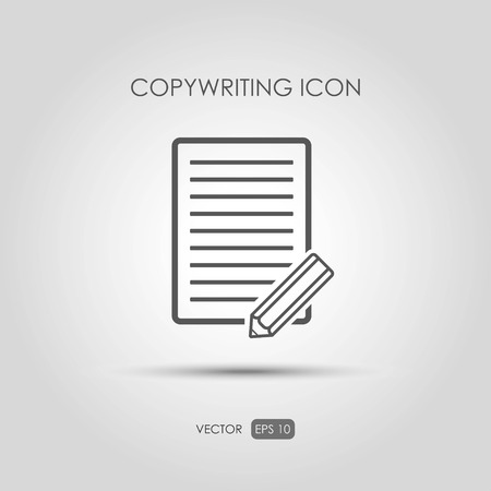 prose: Copywriting icon in linear style. Vector illustration