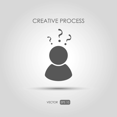 copywriting: Copywriting icon Creative process. Vector illustration