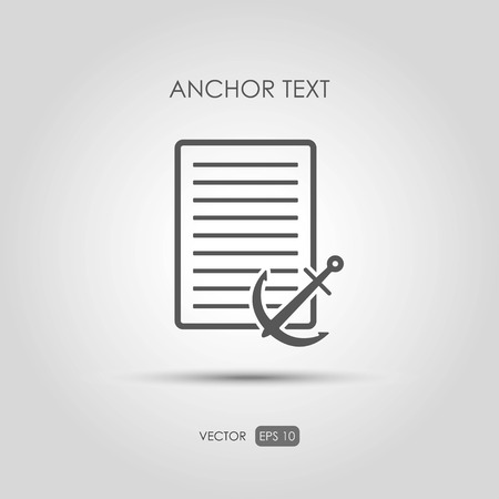 copywriting: Copywriting icon Anchor text in linear style. Vector illustration