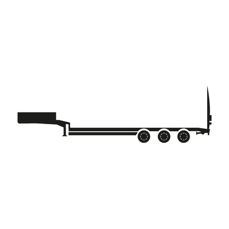 trailers: Cargo trailers . Silhouette of a truck trailer. Vector illustration Illustration