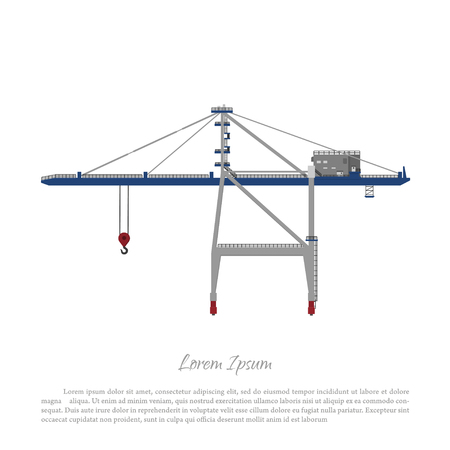 Port crane. Cargo lift for loading containers to the ship