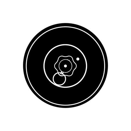対戦車鉱山の黒いシルエット。軍の爆発物武器アイコン。軍事オブジェクト 写真素材 - 94692536