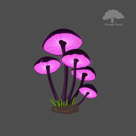 Icon of purple fantasy mushroom.