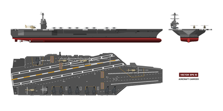 Detailed image of battleship concept illustration.