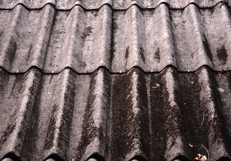 old asbestos roof texture