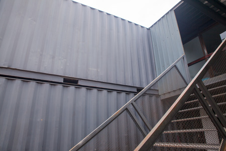 Staircase of the container house at thailand