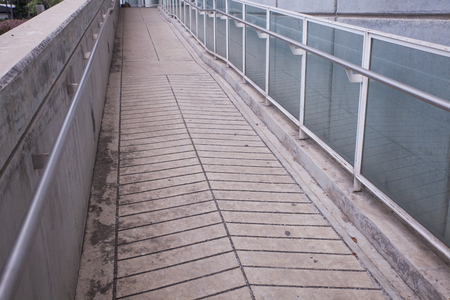 Ramp way for support wheelchair disabled people Фото со стока