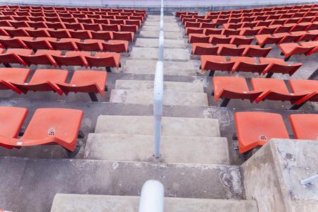 orange seat of football stadium in thailand Banco de Imagens