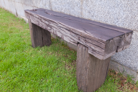 outdoor Old wood bench in the park