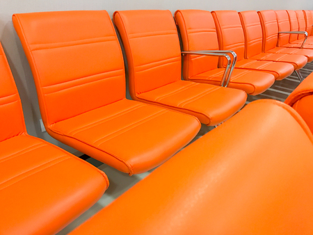 Rows of chairs in a waiting room
