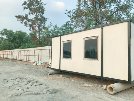 outdoor mobile building in industrial site in thailand Stock Photo