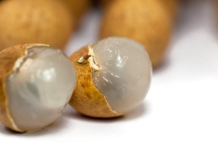 close up longan isolated on white background Reklamní fotografie