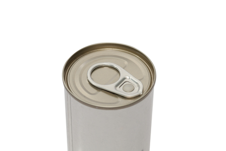 tin canned food  isolated on white background