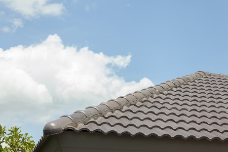 roof of modern house at thailand