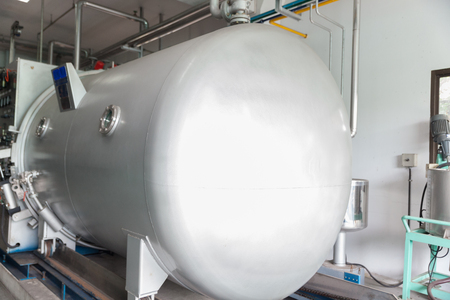 boiler tank in raw cotton factory at thailand