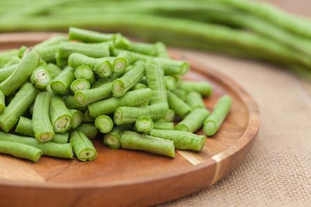 close up of slice of Yard long Bean