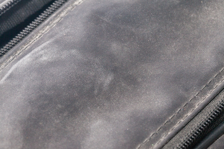 close up of moldy of the dirty bag Stock Photo
