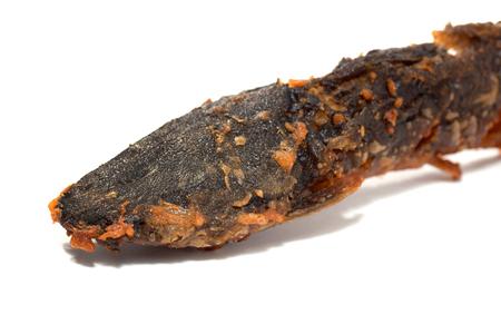 deep fired catfish isolated on white background Standard-Bild