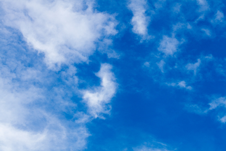 fresh blue cloud on sunny day in thailand Stock Photo