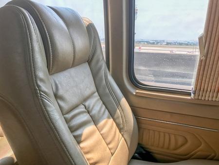 car seat in van near window at thailand 写真素材