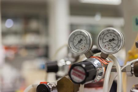close up of Valve of nitrogen tank