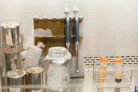 Close up équipement de laboratoire hotte en laboratoire Banque d'images