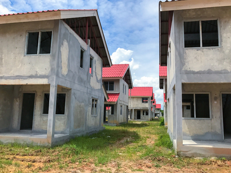 Unfinished house for sale at thailand, under construction house