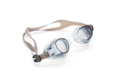 close up of Swimming glasses on white background Stock Photo