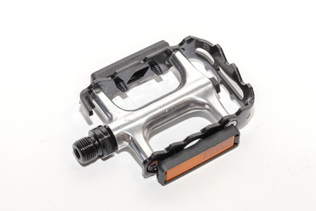 close up of bicycle pedal on white background Stock Photo