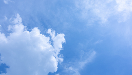 fluffy blue cloud in Clearing day and Good weather in the morning Stock Photo