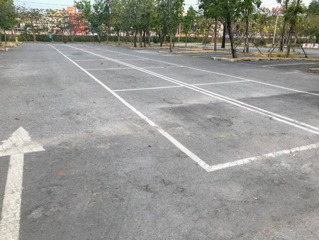 empty outdoor car parking lot at Thailand