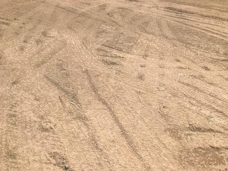 Empty dry crack soil background texture