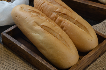 close up of soft french baguette bread 写真素材 - 120854375