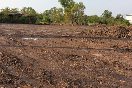 brown dirt on construction site at Thailand 版權商用圖片