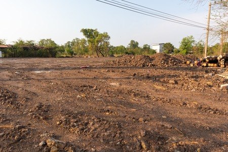 brown dirt on construction site at Thailand Imagens