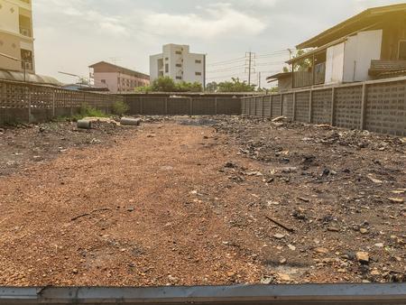 Terreno vacío al aire libre en venta en Tailandia Foto de archivo