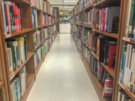 blurry of library in college at Thailand