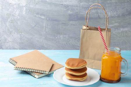 close up of stack dorayaki (Japanese Pancake Sandwich) Reklamní fotografie - 123249295