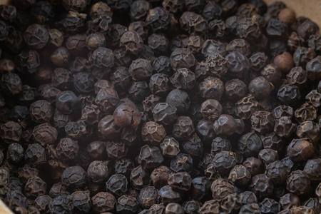 close up of pile black pepper grains Reklamní fotografie