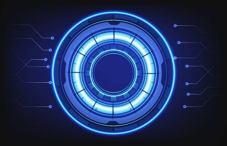 abstract background of hud technology intelligent interface connection hole  イラスト・ベクター素材