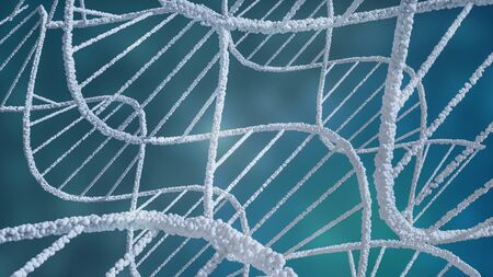 abstract background of DNA structure helix, 3D illustration