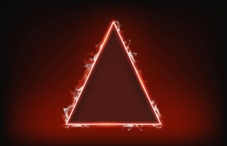 abstract background of triangle fire and smoke