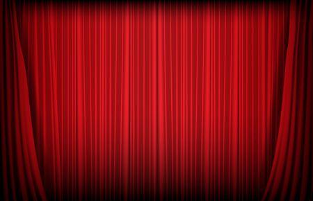 abstrakter Hintergrund des roten Vorhangs, Spielkasinokonzept Vektorgrafik