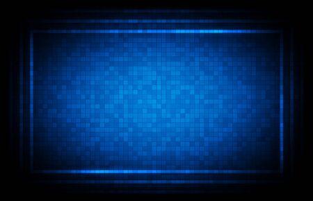 abstract background of blue hud ui interface technology background Vektoros illusztráció